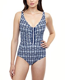 Ruched Tummy-Control One-Piece Swimsuit