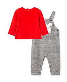 Baby Boys Puppy Face Overall Set