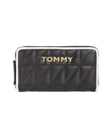 Quilted Emma Large Zip Around Wallet