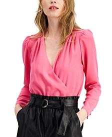 Surplice Bodysuit, Created for Macy's