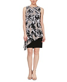Asymmetrical-Popover Sheath Dress