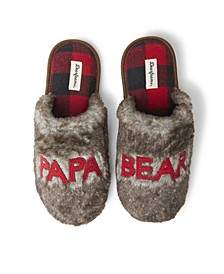 Men's Furry Papa Bear Scuff Matching Family Slippers