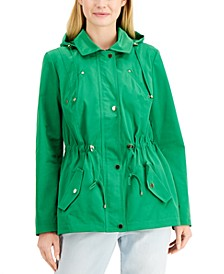 Petite Water-Resistant Hooded Anorak Jacket, Created for Macy's
