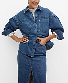 Women's Chest-Pocket Cotton Overshirt