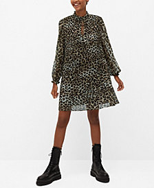 MANGO Women's Leopard Print Dress