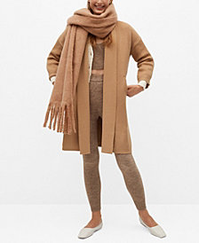 MANGO Women's Knitted Long Coat