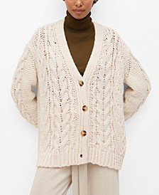 Women's Openwork Knit Cardigan