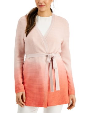 Ombre Belted Cardigan