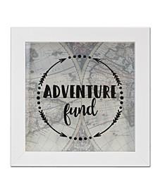 "Adventure Fund Black Shadow Box, 8"" x 8"""