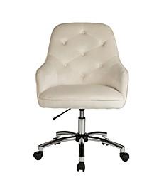 Velvet Gas Lift Adjustable Swivel Office Chair/Desk Chair