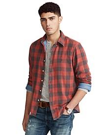 Men's Classic-Fit Indigo Plaid Shirt