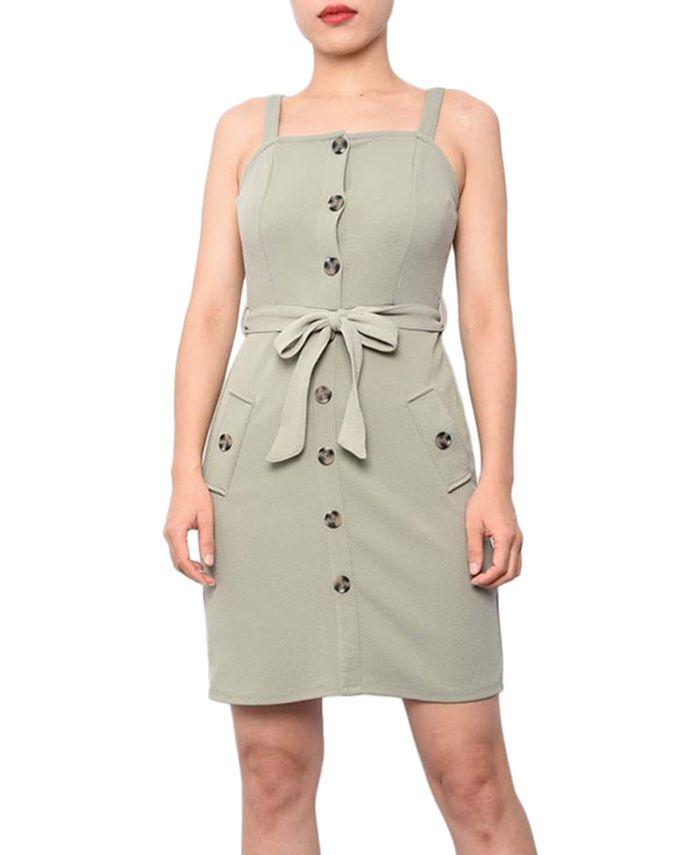 Planet Gold - Juniors' Sleeveless Dress