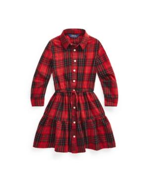 Polo Ralph Lauren Cottons TODDLER GIRLS PLAID COTTON TWILL SHIRTDRESS