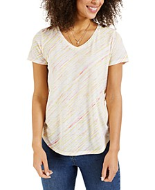 Burnout Striped T-Shirt, Created for Macy's