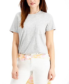 Solid Single-Pocket Cotton T-Shirt, Created for Macy's