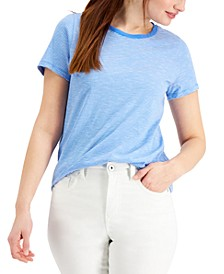 Striped Classic Crewneck Top, Created for Macy's