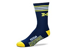 Michigan Wolverines Youth 4 Stripe Deuce Crew Socks