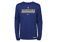 Youth Golden State Warriors Practice Long-Sleeve T-Shirt
