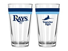 Tampa Bay Rays 16oz Double Banded Pint Glass