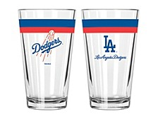 Los Angeles Dodgers 16oz Double Banded Pint Glass