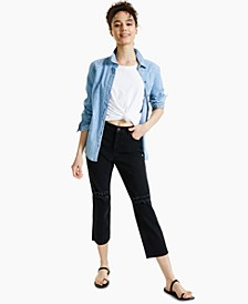 Petite Straight-Leg Cropped Jeans, Created for Macy's
