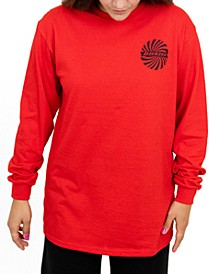 Junior's Logo-Print Long-Sleeve T-Shirt