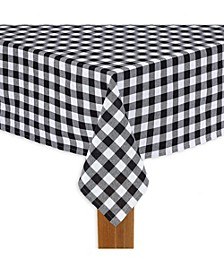 "Buffalo Check Black 100% Cotton Table Cloth for Any Table 60""X84"""