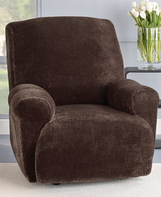 Sure Fit Stretch Plush 1 Piece Recliner Slipcover
