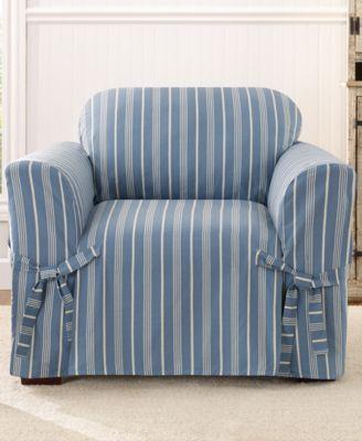 Sure Fit Grainsack Stripe Chair Slipcover