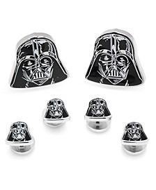 Men's Darth Vader Head Cufflink and Stud Set