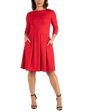 Womens Perfect Fit and Flare Pocket Dress