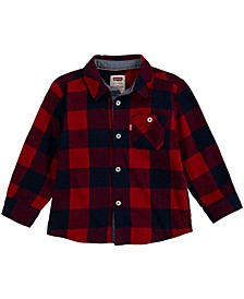 Baby Boys Long Sleeve Woven Shirt