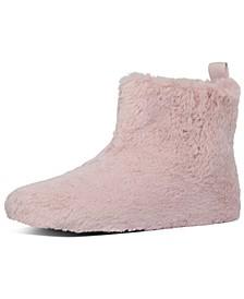 Women's Furry Slipper Booties