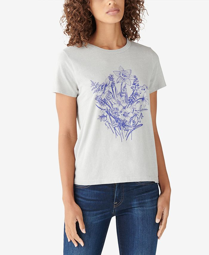 Lucky Brand - Cotton Floral-Graphic T-Shirt