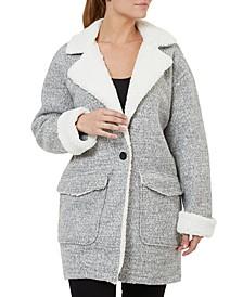 One-Button Fleece Coat