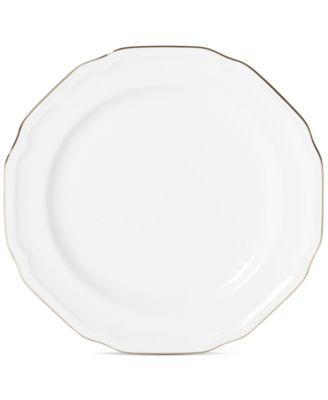 Antique White Platinum Salad Plate