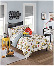 Kids Under Construction Twin Bedding Collection, 2 Piece