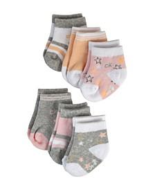 Baby Girls Socks, Pack of 6