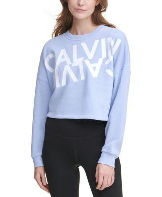 Mirror-Logo Cropped Sweatshirt