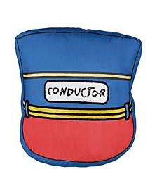 """Kids All Aboard Conductor Hat Decorative Pillow, 12"""" x 14"""""""