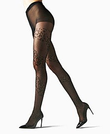 Women's Leopard Mix Sheer Tights Hosiery