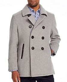Men's Slim-Fit Grizzly Bear Peacoat