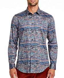 Men's Slim-Fit Serpetine Long Sleeve Shirt