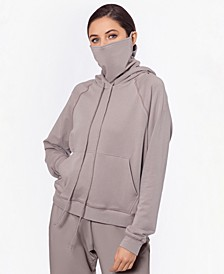 Hoodie with Removable Mask, Created for Macy's