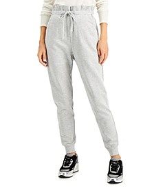 INC Paperbag-Waist Jogger Sweatpants, Created for Macy's