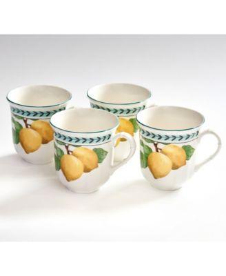French Garden Modern Lemons Jumbo Mug Set of 4