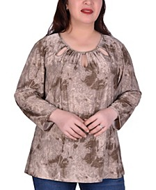 Women's Plus Size Long Sleeve Tunic