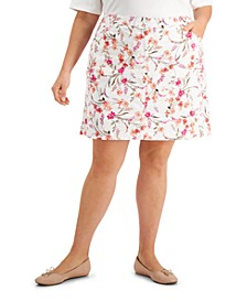 Plus Size Wildflower Breeze Skort, Created for Macy's