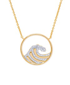Diamond Accent Wave Fine Gold Plate Necklaces