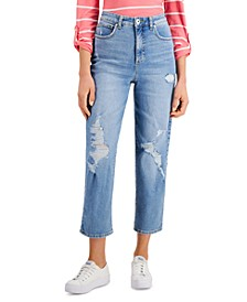 Petite High Rise Straight-Leg Ankle Jeans, Created for Macy's